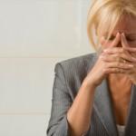 Sad businesswoman